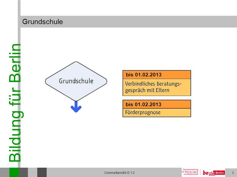 Grundschule bis 01.02.2013 bis 01.02.2013 Corinna Berndt II D 1.3