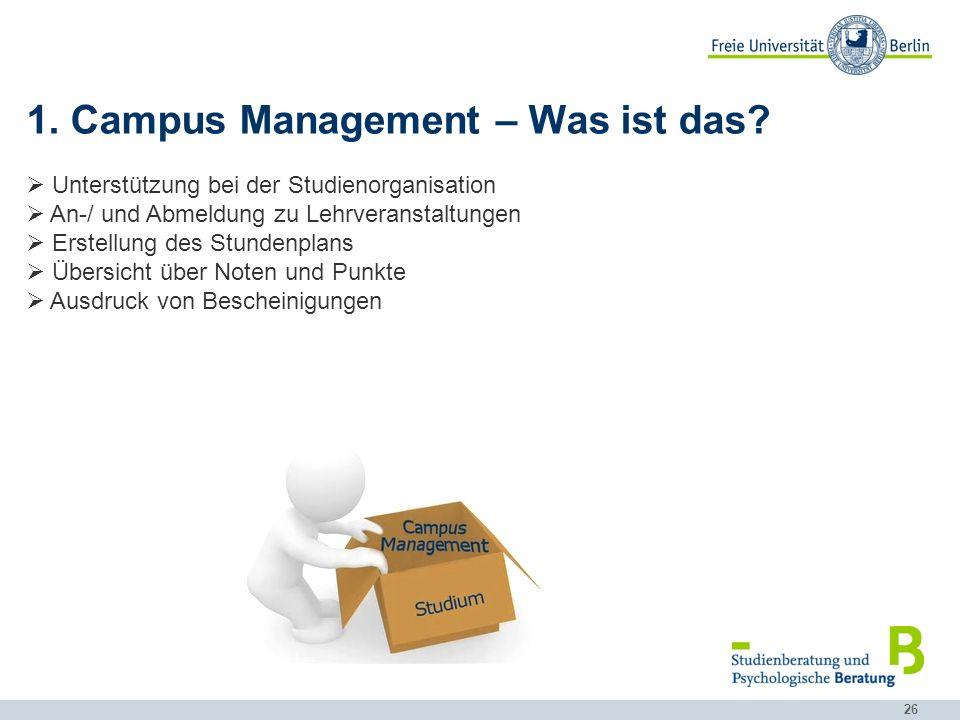1. Campus Management – Was ist das