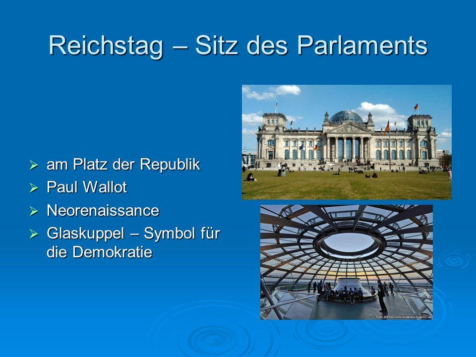 Reichstag – Sitz des Parlaments