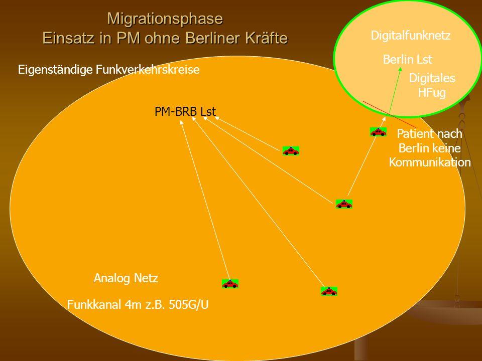 Migrationsphase Einsatz in PM ohne Berliner Kräfte