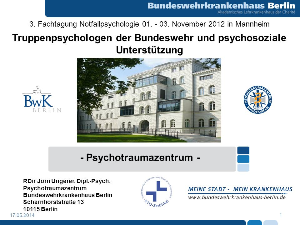 Truppenpsychologen der Bundeswehr und psychosoziale Unterstützung