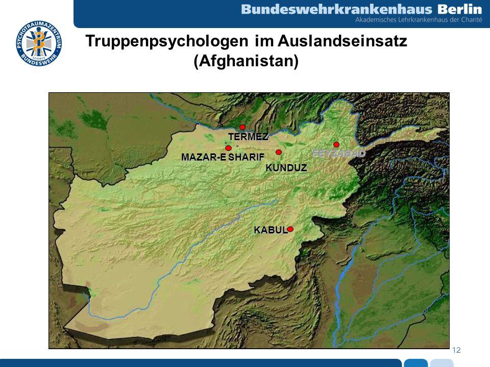 Truppenpsychologen im Auslandseinsatz (Afghanistan)