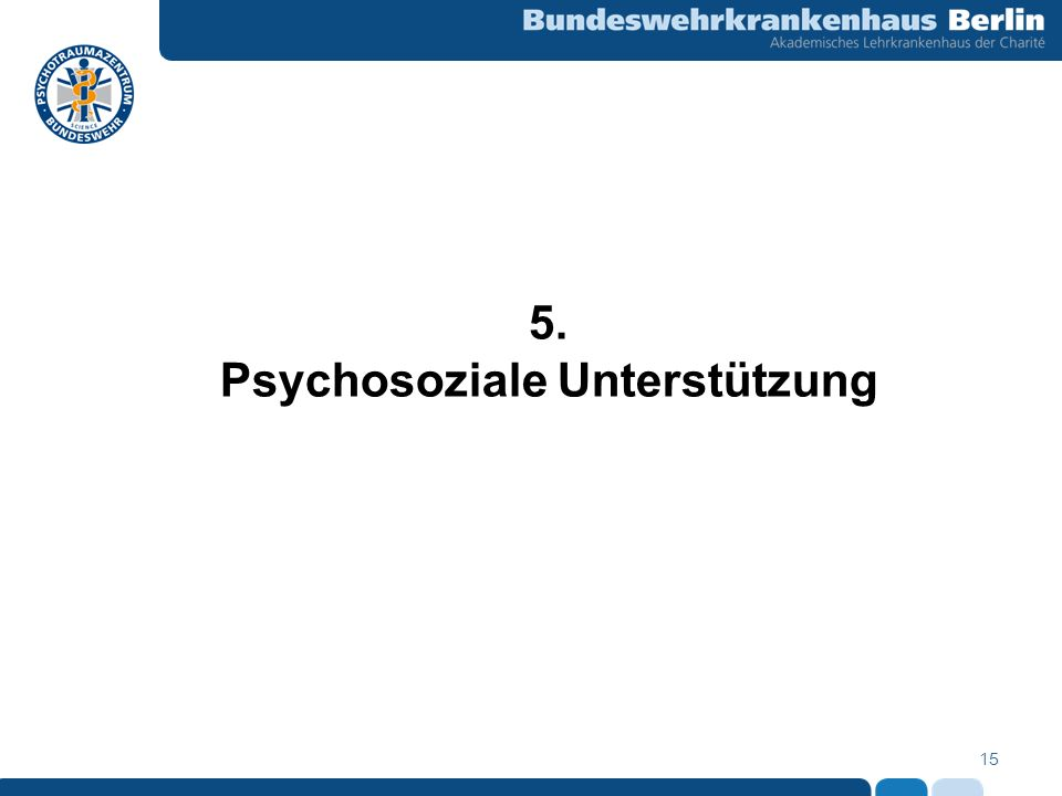 Psychosoziale Unterstützung