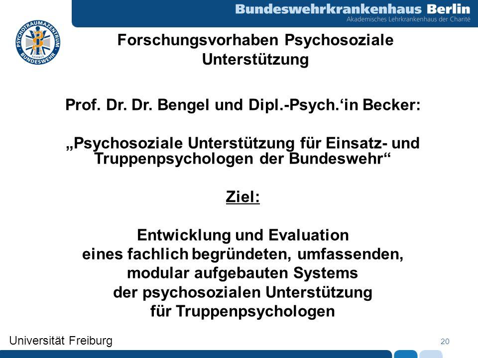 Forschungsvorhaben Psychosoziale Unterstützung