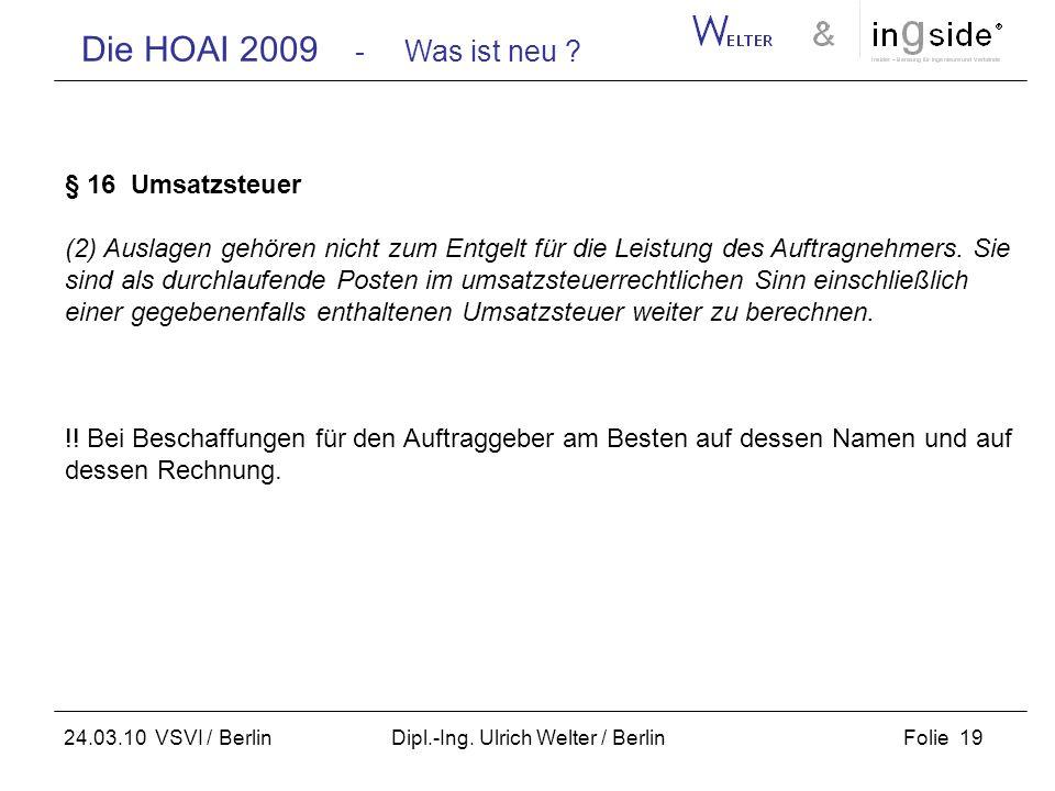 Dipl.-Ing. Ulrich Welter / Berlin