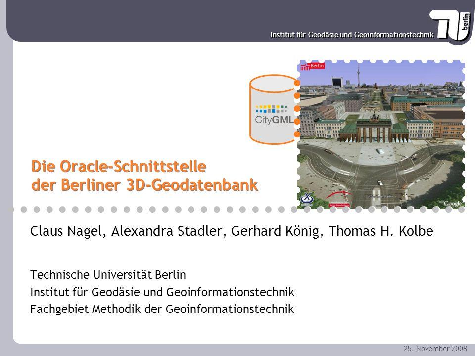 Die Oracle-Schnittstelle der Berliner 3D-Geodatenbank