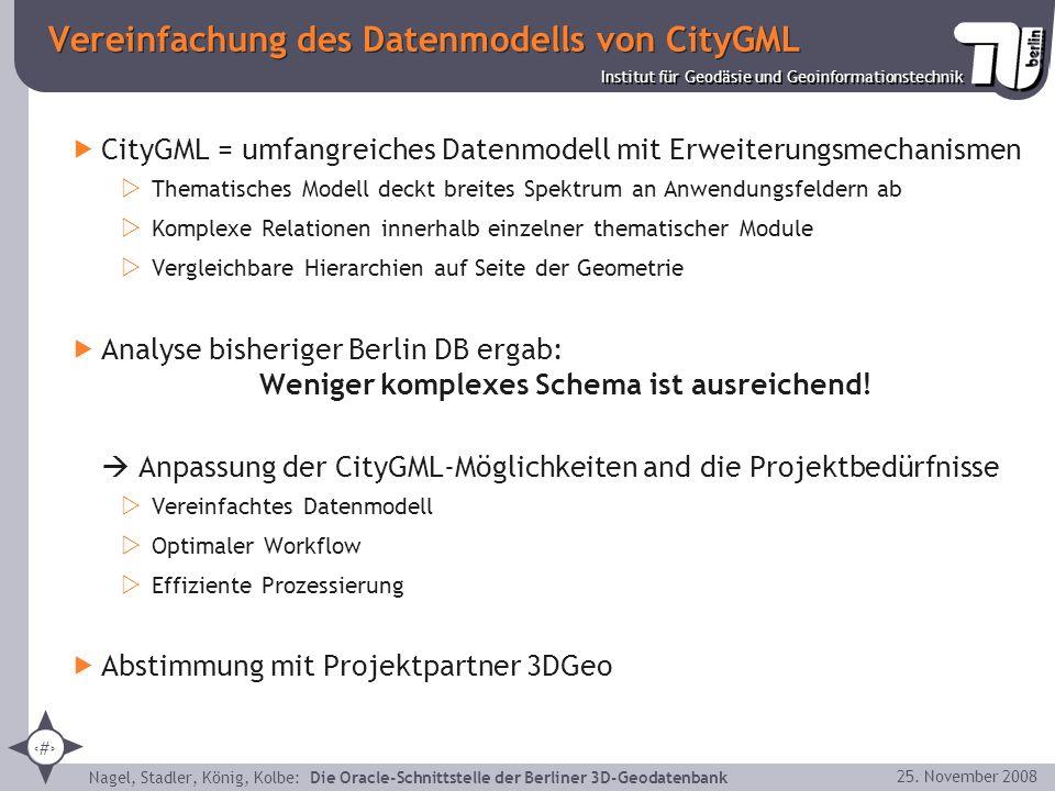 Vereinfachung des Datenmodells von CityGML