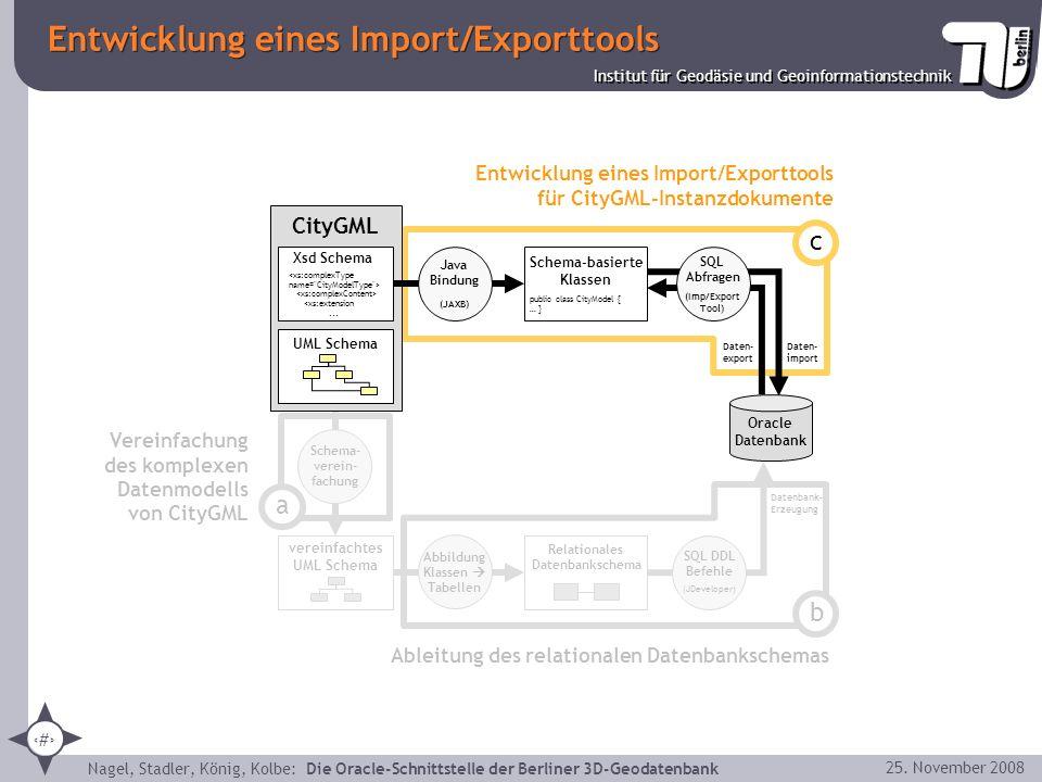 Entwicklung eines Import/Exporttools