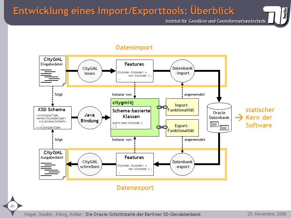 Entwicklung eines Import/Exporttools: Überblick
