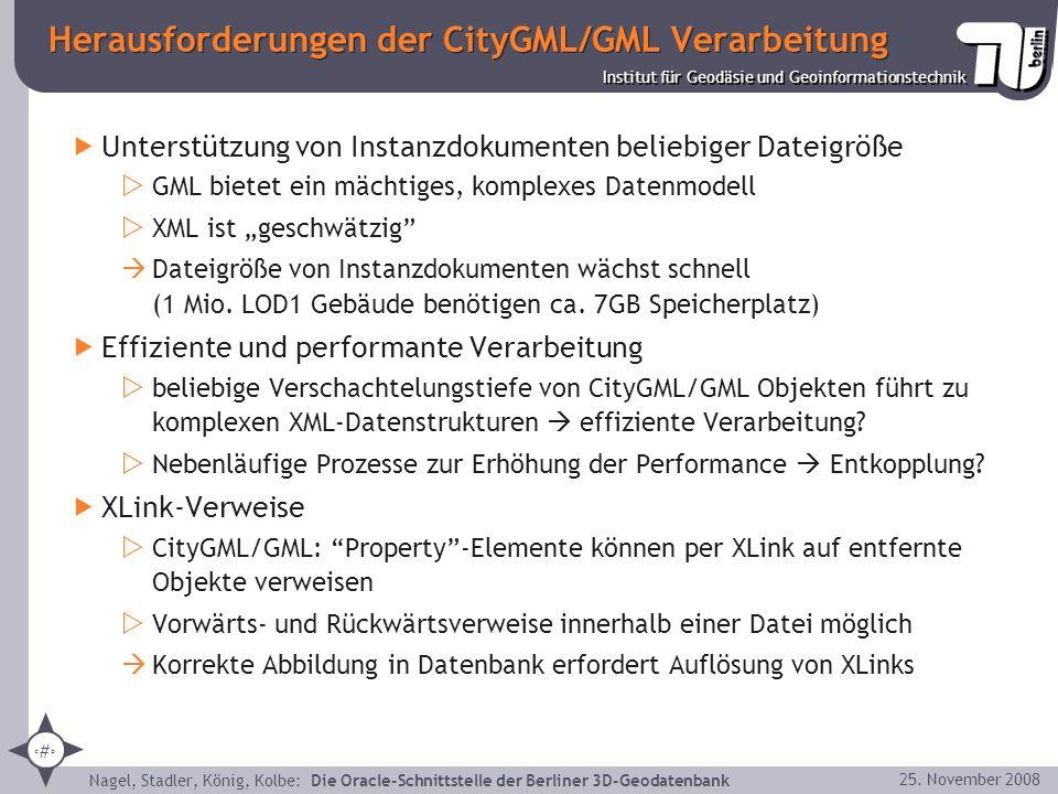 Herausforderungen der CityGML/GML Verarbeitung