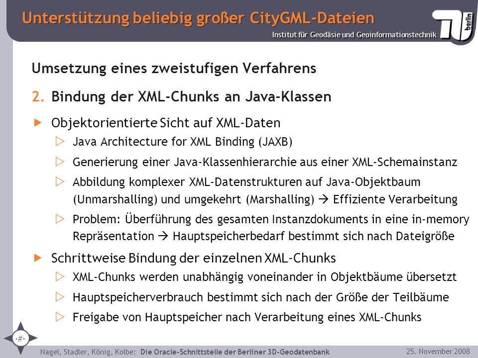 Unterstützung beliebig großer CityGML-Dateien
