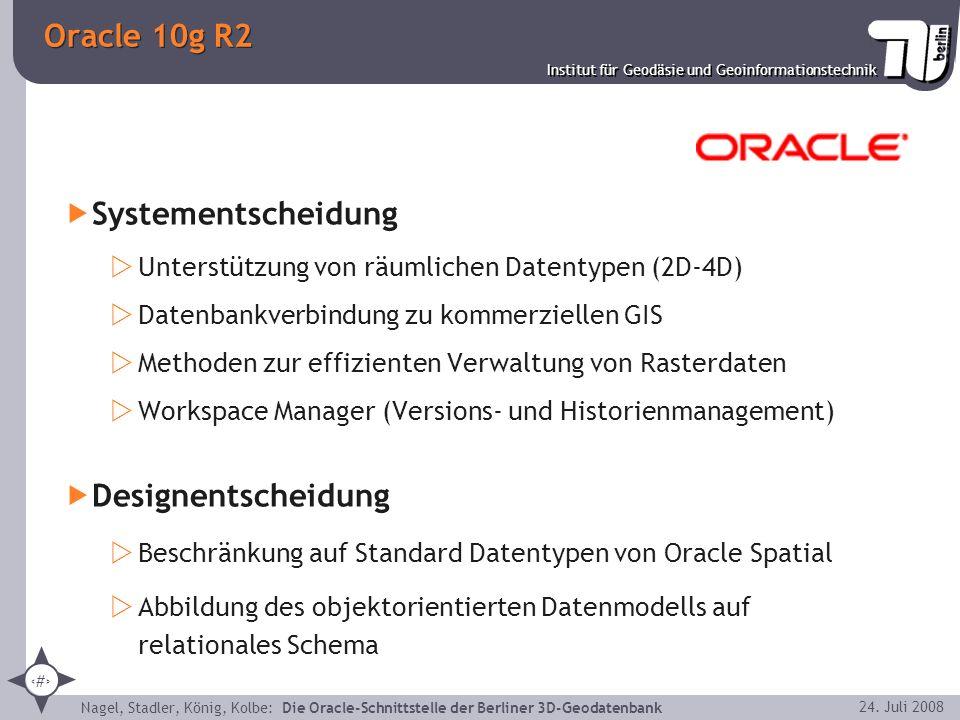Oracle 10g R2 Systementscheidung Designentscheidung