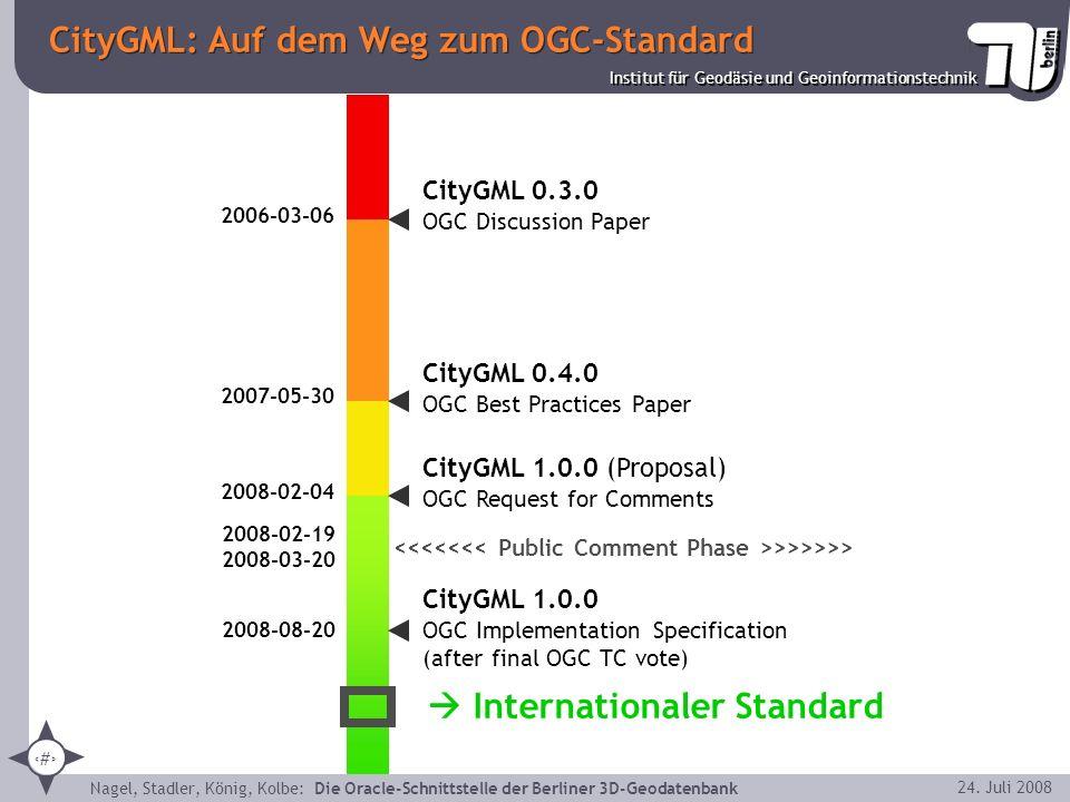CityGML: Auf dem Weg zum OGC-Standard