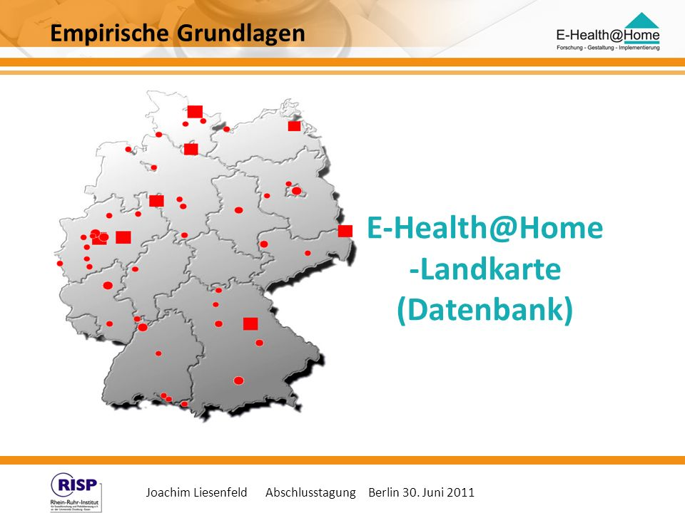 E-Health@Home -Landkarte (Datenbank)