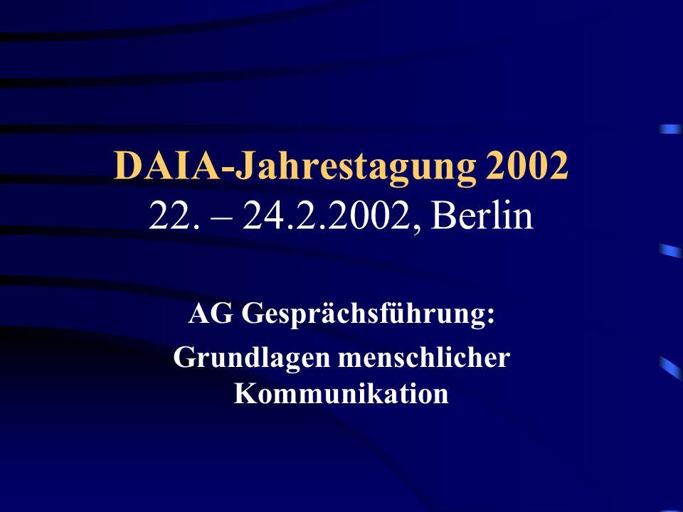 DAIA-Jahrestagung 2002 22. – 24.2.2002, Berlin