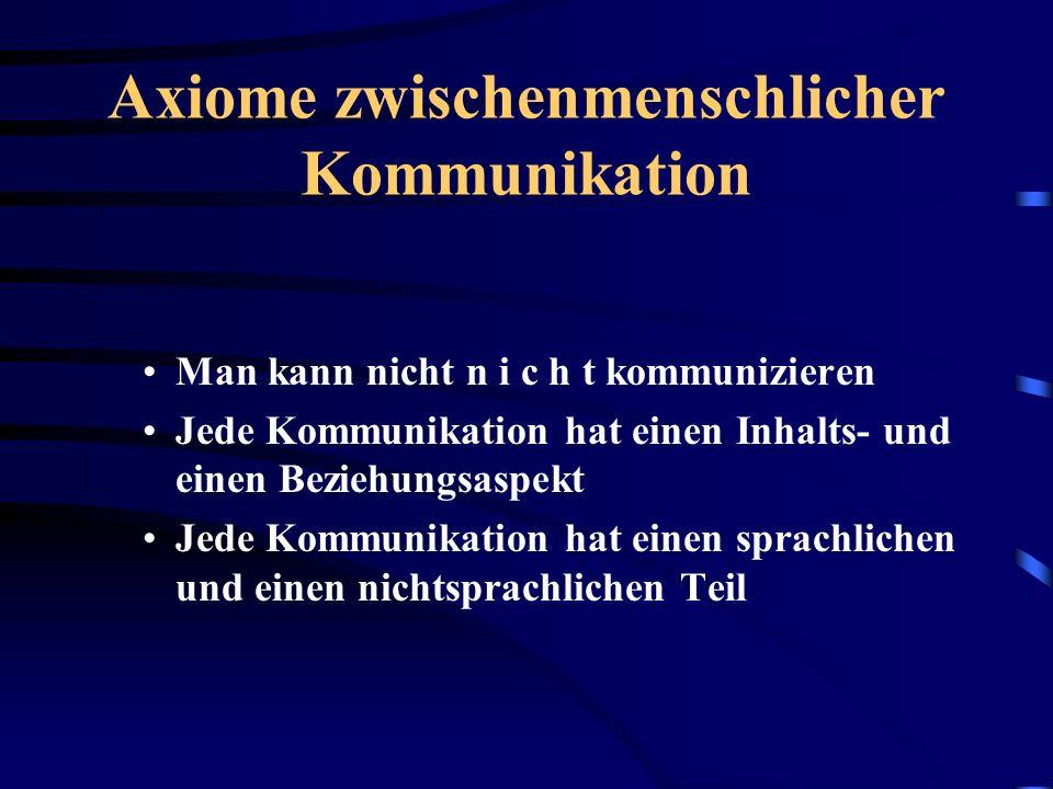 Axiome zwischenmenschlicher Kommunikation