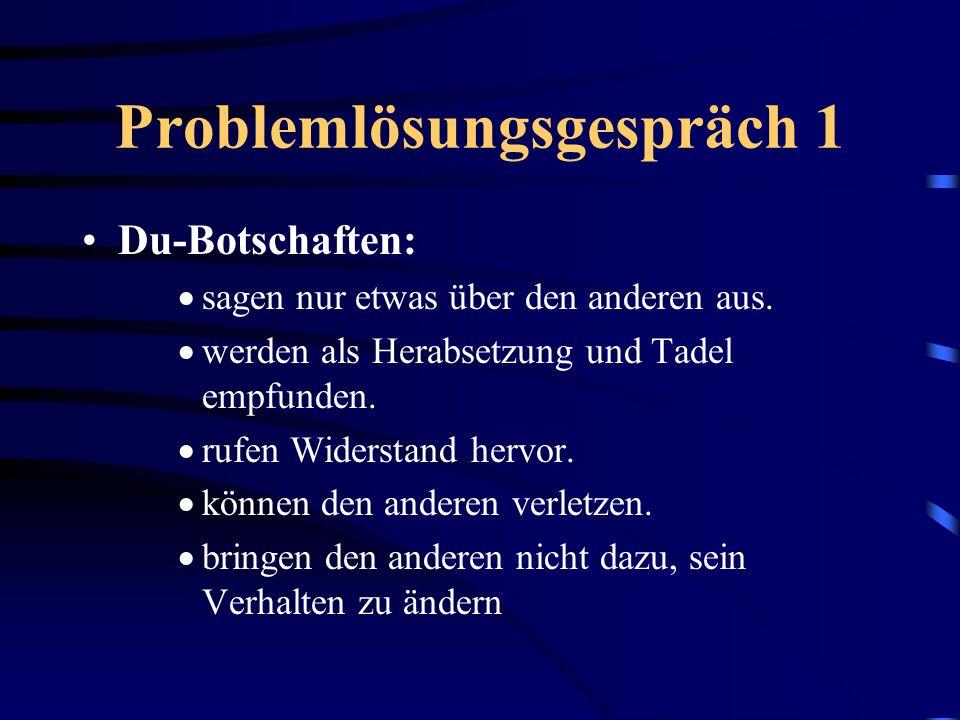 Problemlösungsgespräch 1