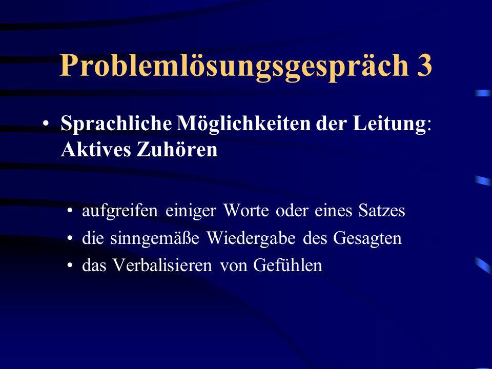 Problemlösungsgespräch 3