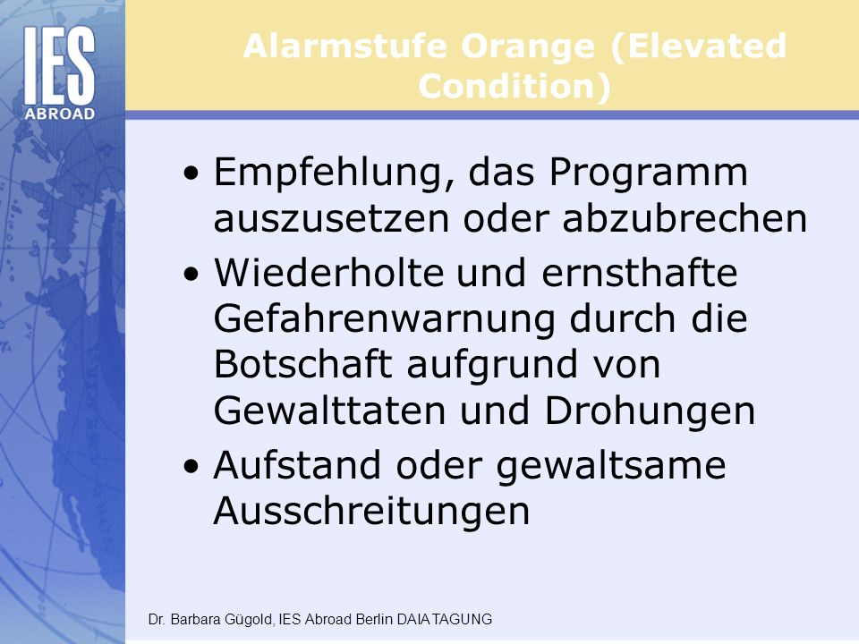 Alarmstufe Orange (Elevated Condition)