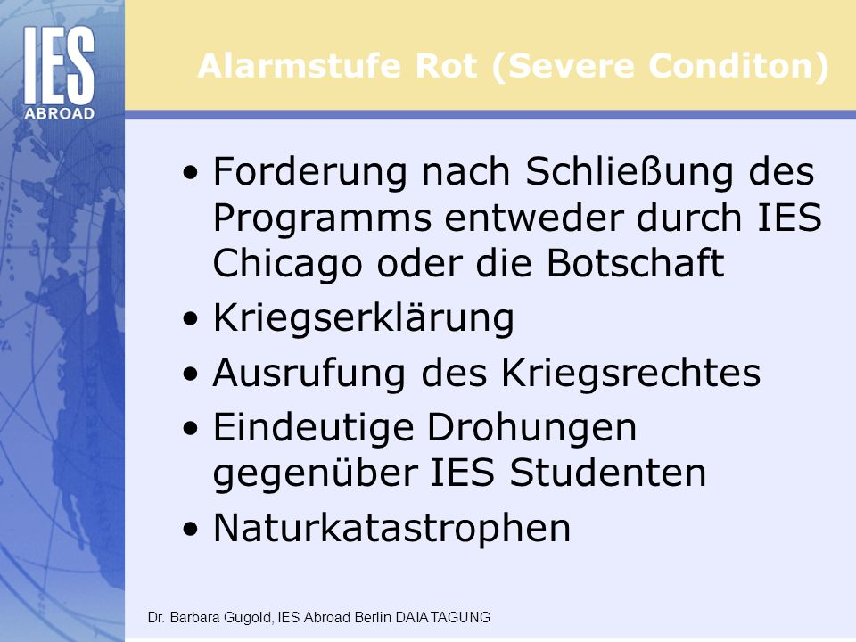 Alarmstufe Rot (Severe Conditon)