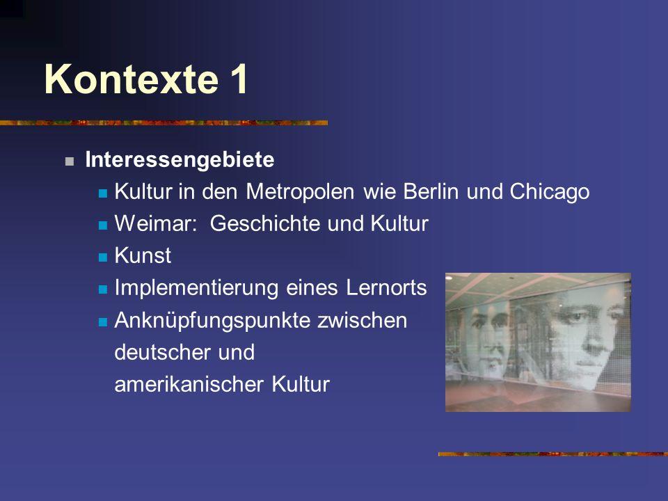 Kontexte 1 Interessengebiete