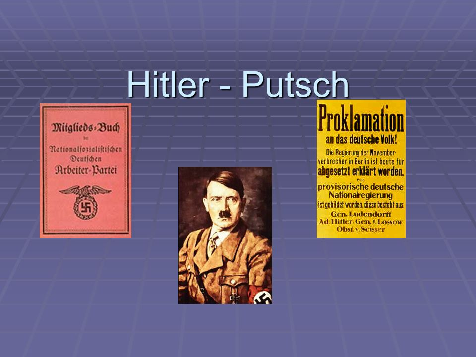 Hitler - Putsch
