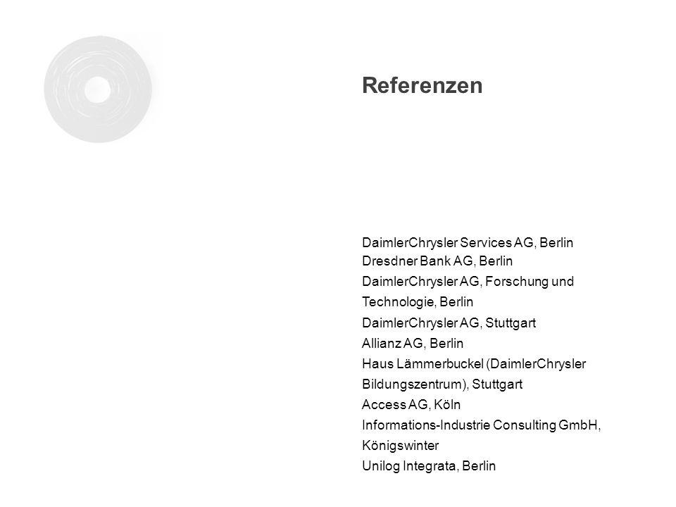 Referenzen DaimlerChrysler Services AG, Berlin