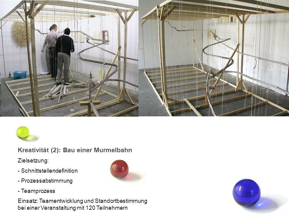Kreativität (2): Bau einer Murmelbahn