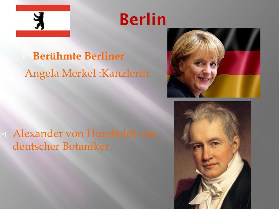 Berlin Berühmte Berliner Angela Merkel :Kanzlerin