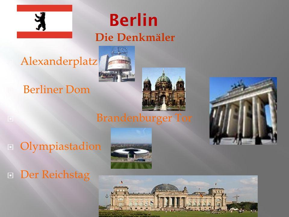 Berlin Die Denkmäler Alexanderplatz Berliner Dom Brandenburger Tor