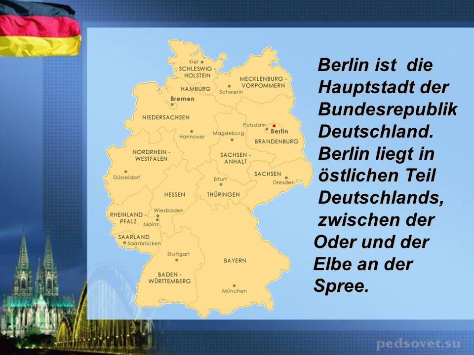 zwischen der Oder und der Elbe an der Spree.