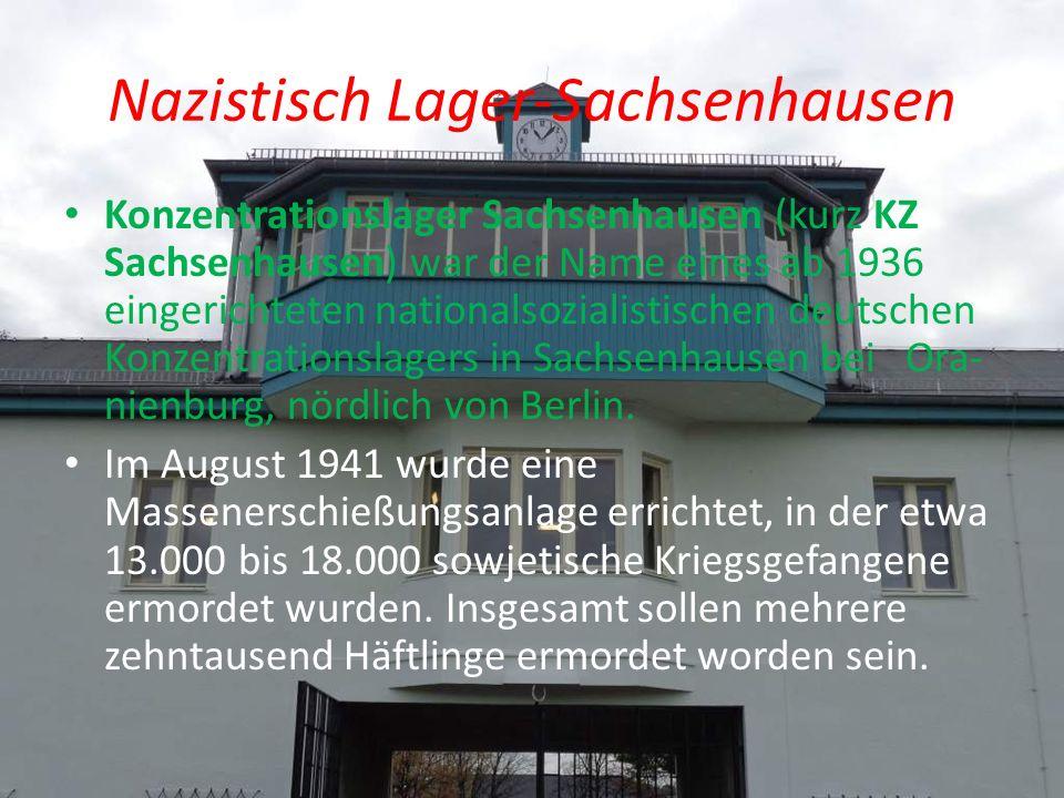 Nazistisch Lager-Sachsenhausen