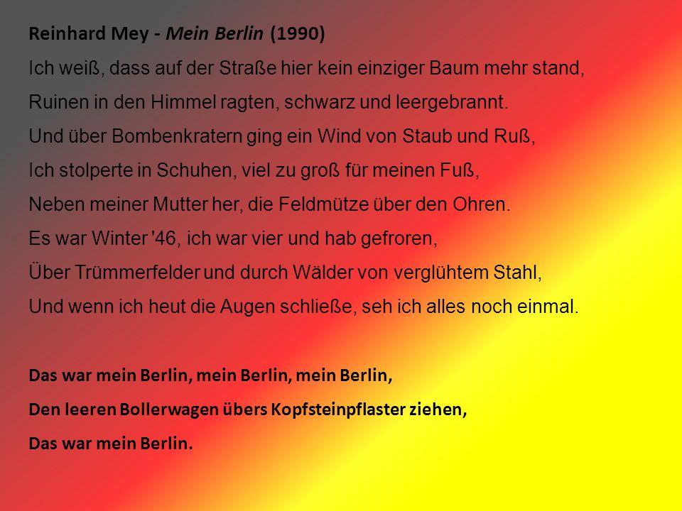 Reinhard Mey - Mein Berlin (1990)