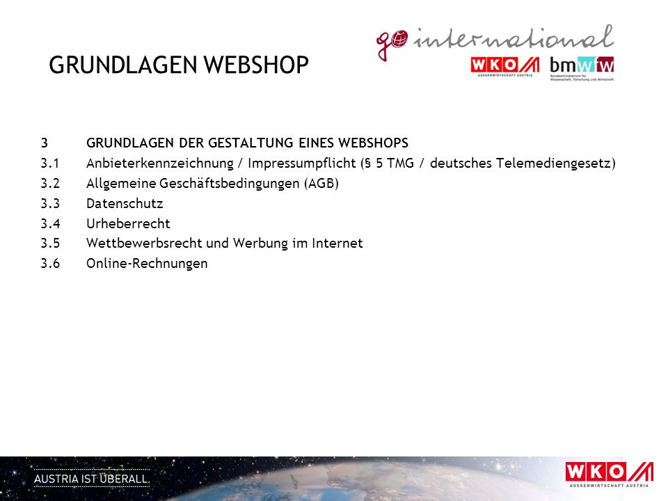 Grundlagen Webshop