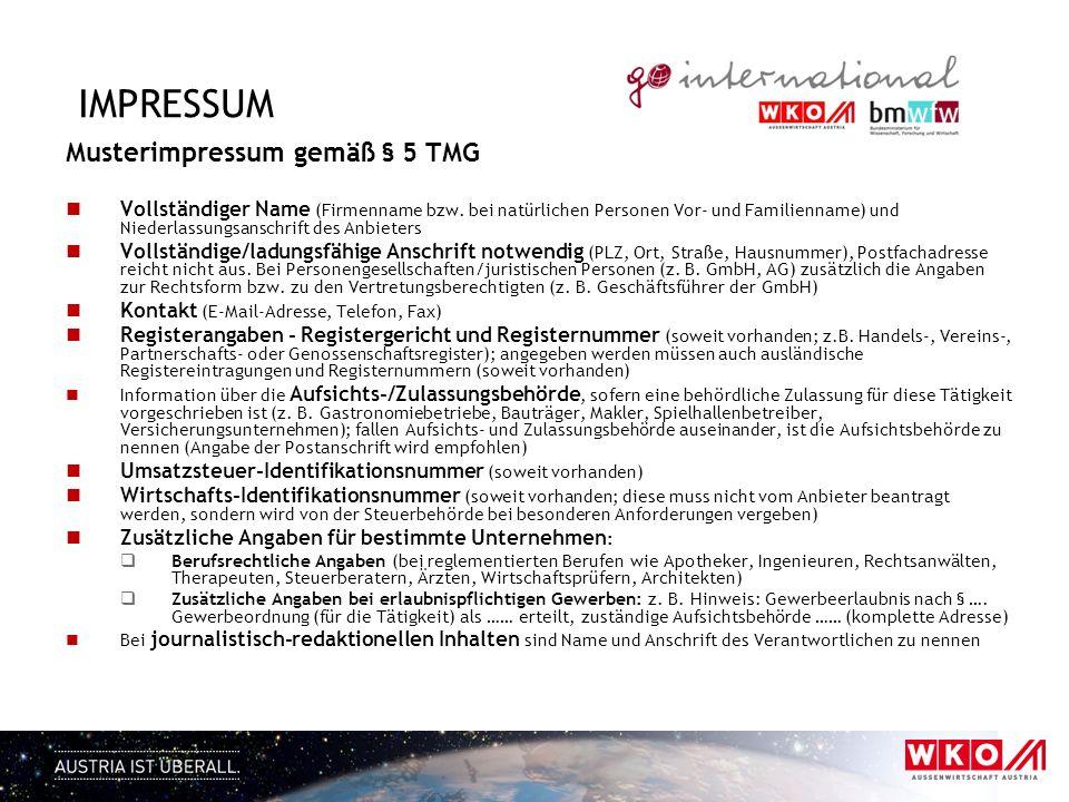 impressum Musterimpressum gemäß § 5 TMG
