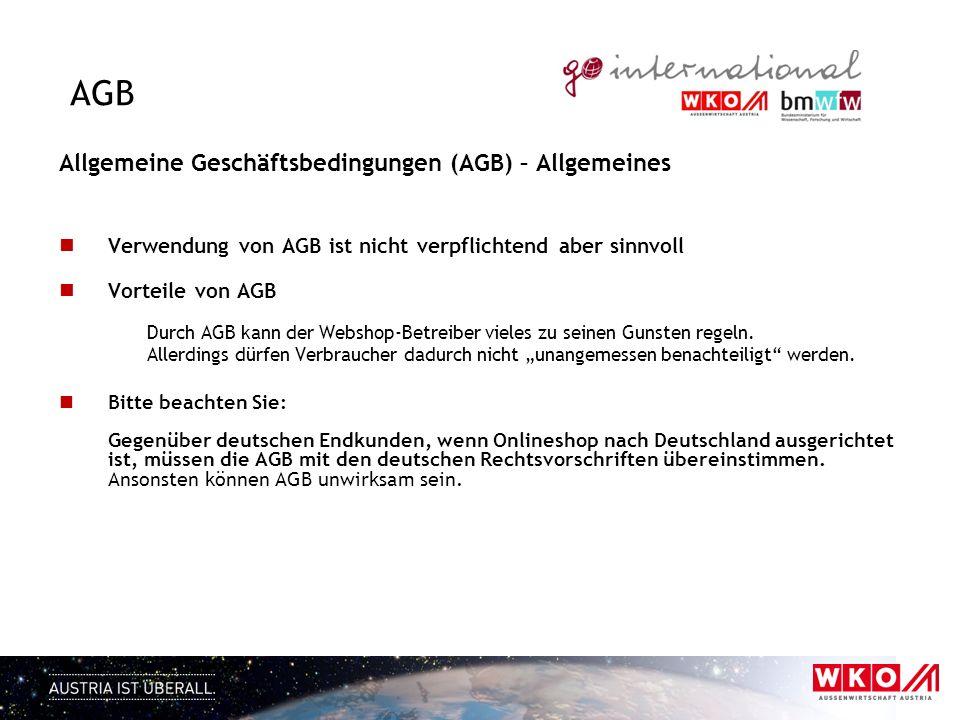 AGB Allgemeine Geschäftsbedingungen (AGB) – Allgemeines