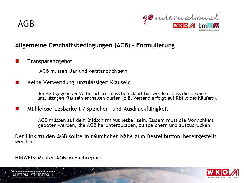 AGB Allgemeine Geschäftsbedingungen (AGB) – Formulierung