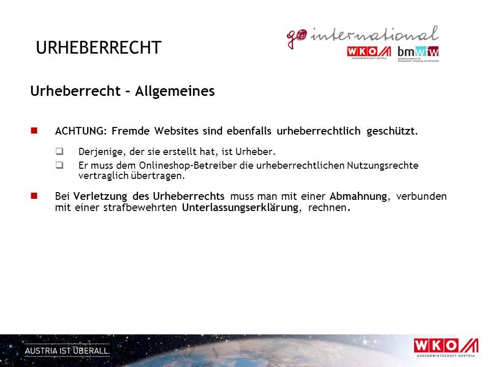 Urheberrecht Urheberrecht – Allgemeines