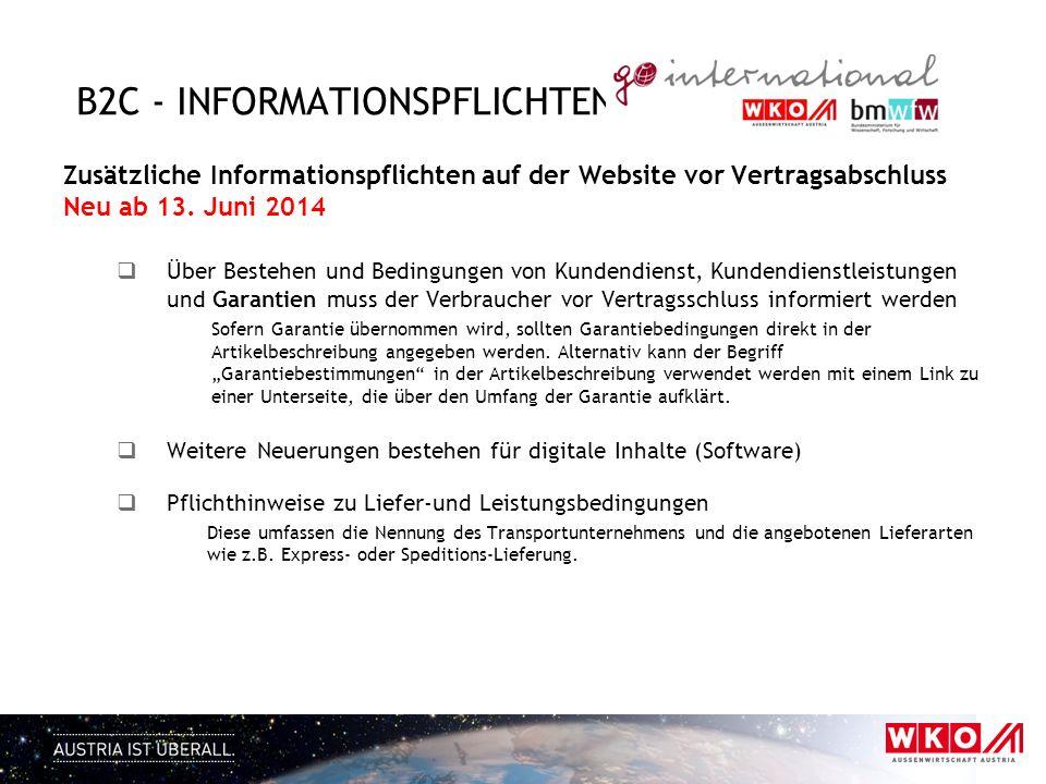 b2C - informationspflichten