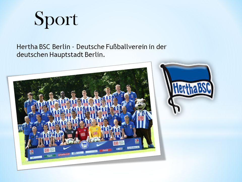 Sport Hertha BSC Berlin - Deutsche Fußballverein in der deutschen Hauptstadt Berlin.