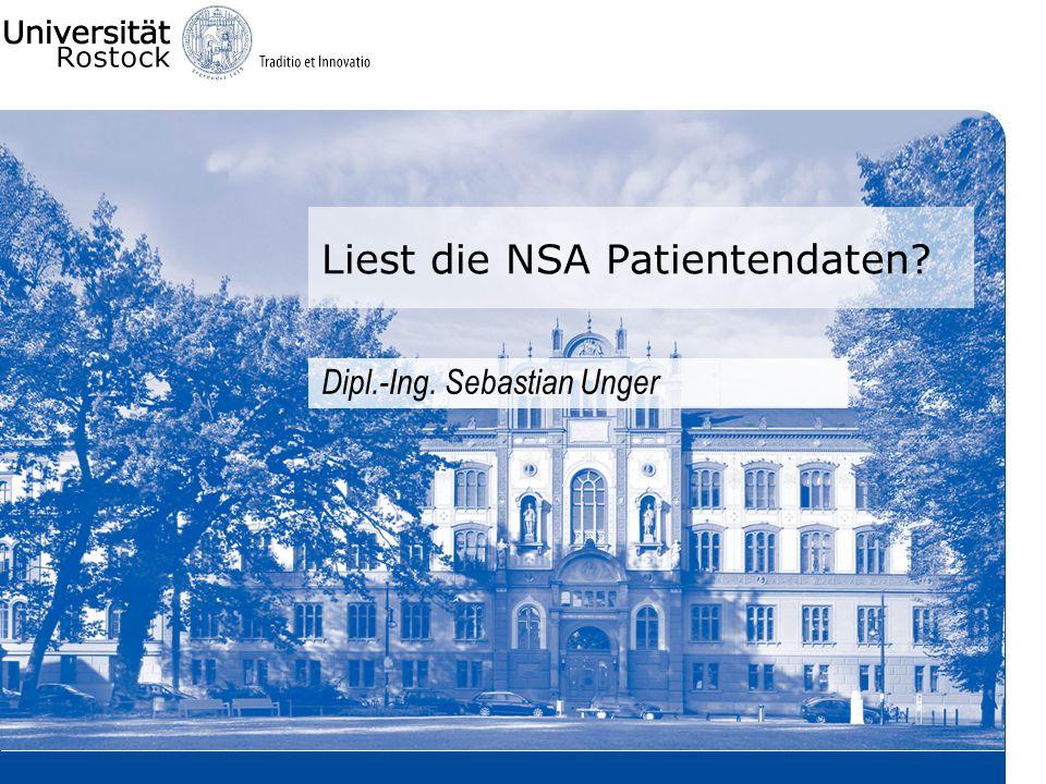 Liest die NSA Patientendaten