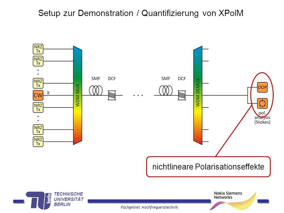 Setup zur Demonstration / Quantifizierung von XPolM