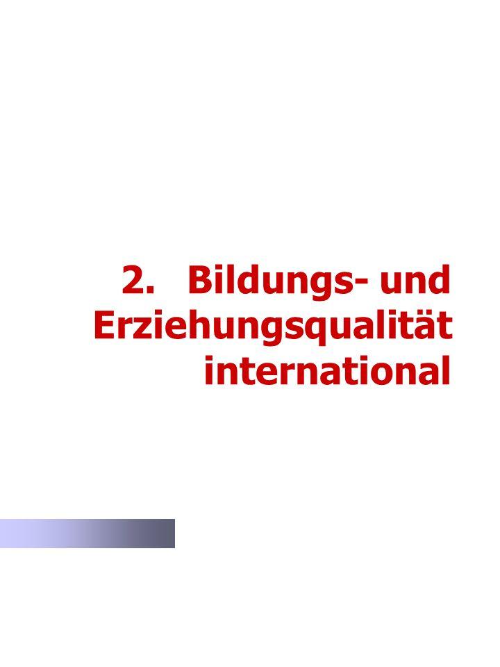 2. Bildungs- und Erziehungsqualität international