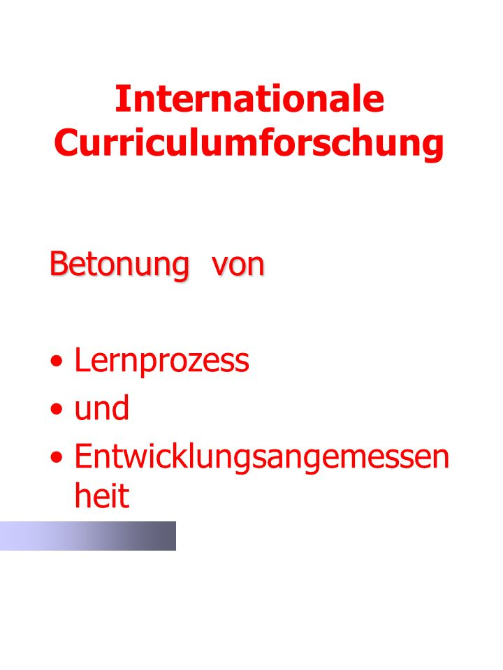 Internationale Curriculumforschung
