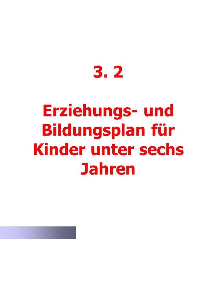 3. 2 Erziehungs- und Bildungsplan für Kinder unter sechs Jahren