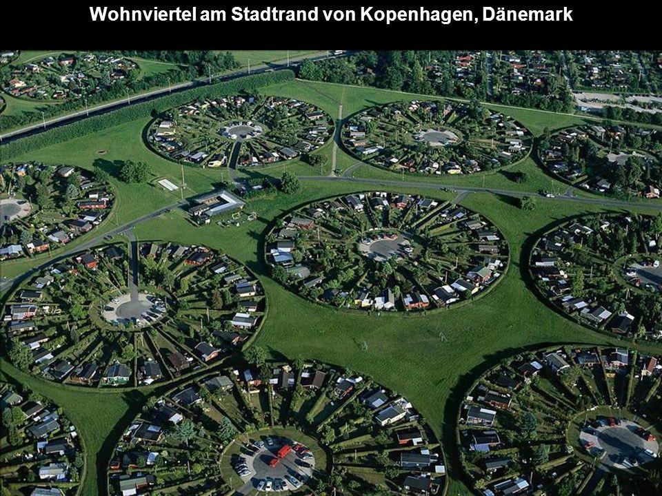 Wohnviertel am Stadtrand von Kopenhagen, Dänemark