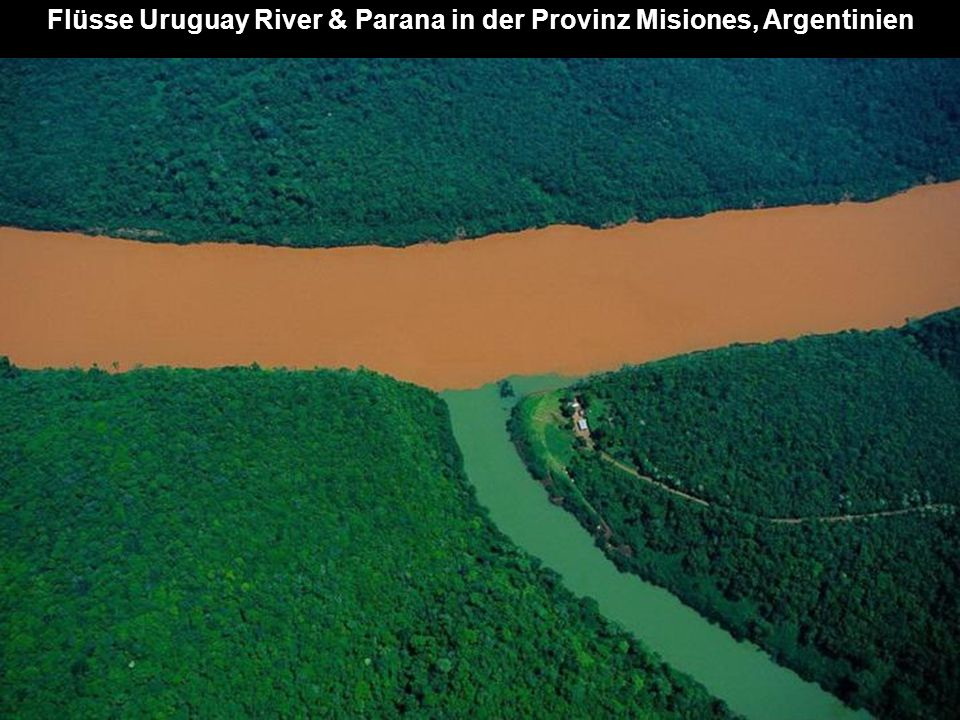 Flüsse Uruguay River & Parana in der Provinz Misiones, Argentinien