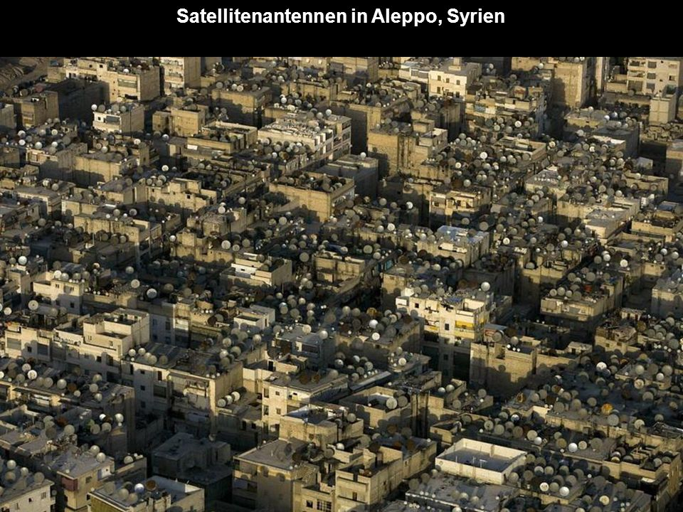 Satellitenantennen in Aleppo, Syrien