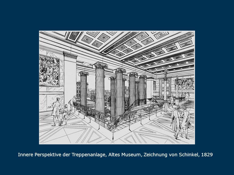 Treppenanlage Innere Perspektive der Treppenanlage, Altes Museum, Zeichnung von Schinkel, 1829