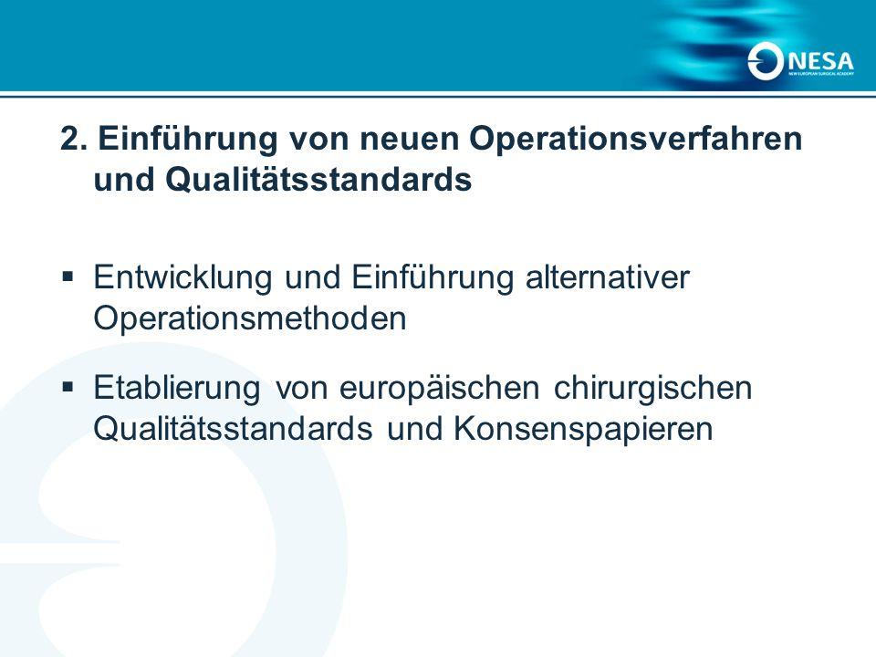 2. Einführung von neuen Operationsverfahren und Qualitätsstandards